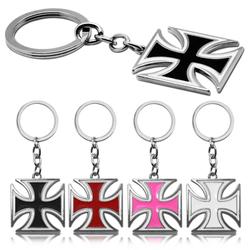 tumundo 1x oder Set aus 4 Stück Schlüssel-Anhänger Eisernes Kreuz EK Iron Cross Anhänger Schlüsselband Schlüssel-Ring