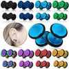 tumundo Fakeplugs Fake Piercing Plug Tunnel Ohrstecker Ohrring 6 8 10 12 mm Farbe Herren Damen Hantel Edelstahl Cheater