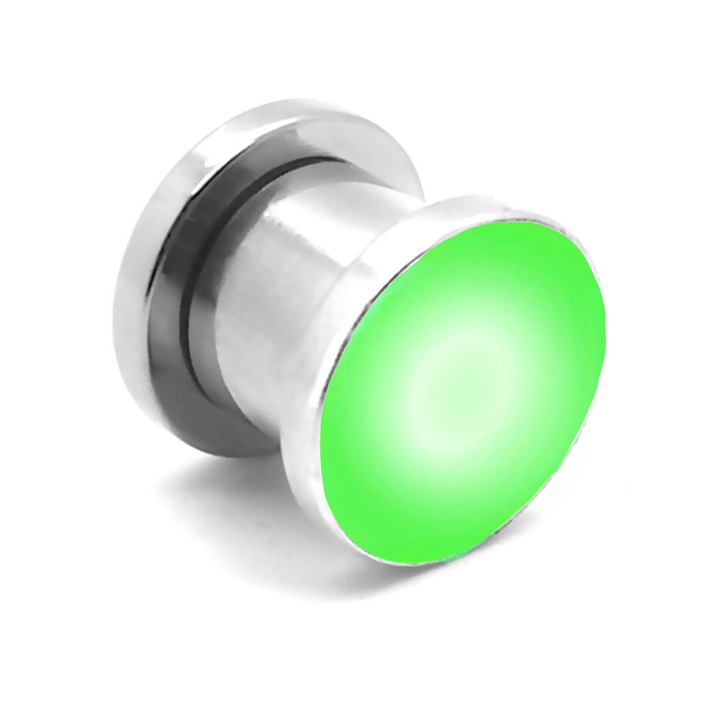 LED-FLESH-TUNNEL-PLUG-EDELSTAHL-PIERCING-LEUCHTED-BLINKEND-MIT-BATTERIE-8-10-12
