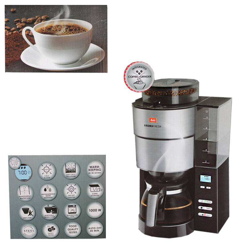 melitta aroma fresh kaffee maschine automat mahlwerk timer 1021 01 1x4 filter ebay. Black Bedroom Furniture Sets. Home Design Ideas