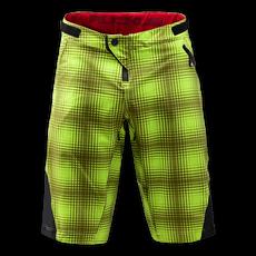 Ruckus Short Plaid Lime Green 002