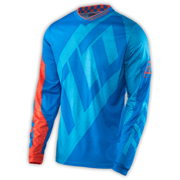 GP JERSEY QUEST CYAN/ORANGE 001