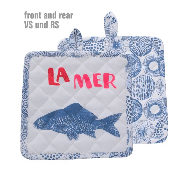 Overbeck and Friends Topflappen La Mer blau