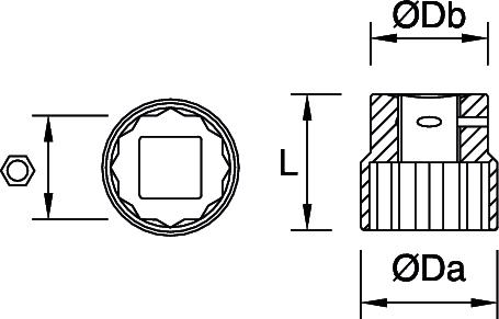 Peddinghaus Steckschluessel-Einsatz 3/4'' 12-Kant 42 mm 9218420001 – Bild 2