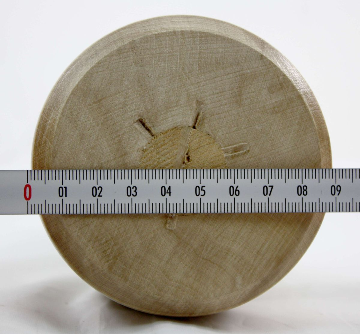 Kirschen Klopfholz Bildhauerklüpfel 90 mm rund 3500090 – Bild 8