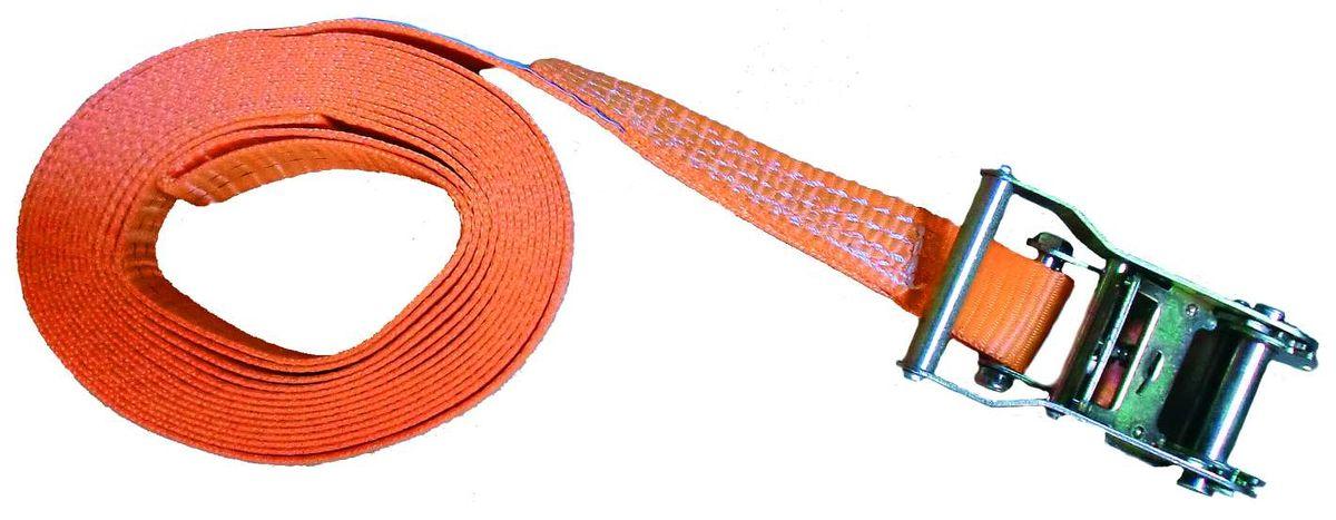 Zurrgurt 8 Meter 35 mm 1tlg. 1000/2000 kg, m. Ratsche 90607 Spanngurt Packriemen Rödelband Zurrband Ladungssicherung scheuer- u. abriebfest hergestellt nach aktueller Norm EN 12195-2, Farbe orange