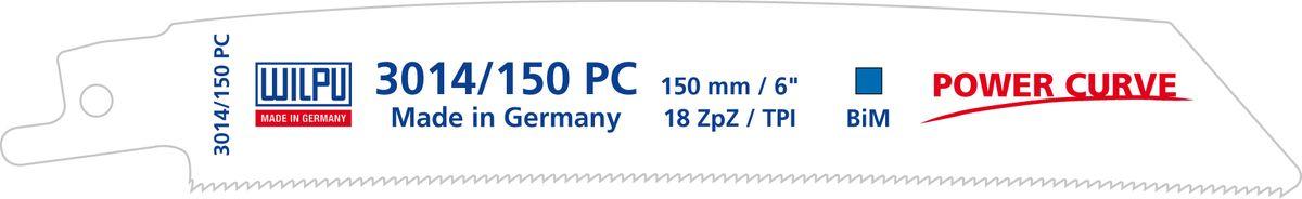 WILPU Säbelsägeblatt - Metall, 150x19x0,9 mm, 18 tpi, Bi-Metall - POWER CURVE, 3014/150 PC, VE 5 Stück 14515 00005 – Bild 1