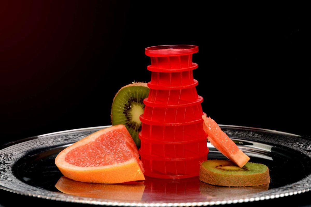 Eco Air 2.0, Kiwi Grapefruit, rot / red, Geruchsneutralisator, rund / Kegelform, universeller Lufterfrischer, wohlriechend, funktioniert auf Luftströmungsbasis, unzerbrechlich, 30 Tage volle Frischewirkung, 100 % recyclebar – Bild 3