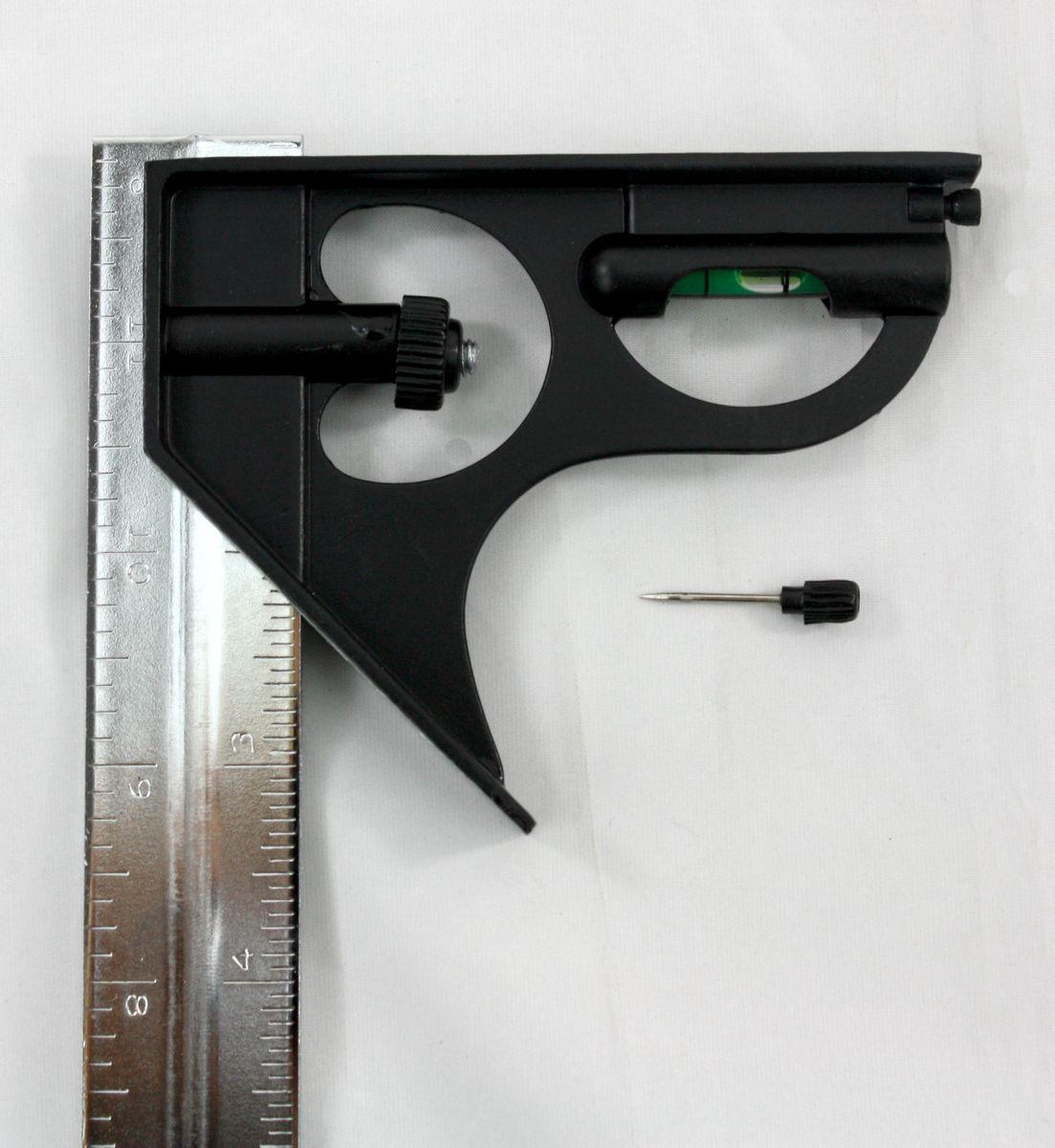 MIB Kombinationswinkel, Schiene 300 mm, mit Wasserwaage und Anreißnadel 03047010 – Bild 5