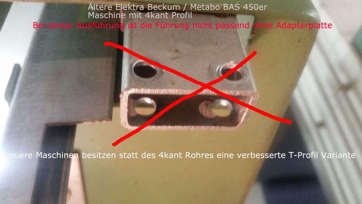 Ersatzteil Set / Baugruppe für Bandsägemaschinen, Dreirollenführung komplett, vormontiert, für oben, geeignet f. Elek. Beck. / Met. BAS 315/4, 316, 350, 450, 500, benötigt zur Sägebandführung – Bild 14