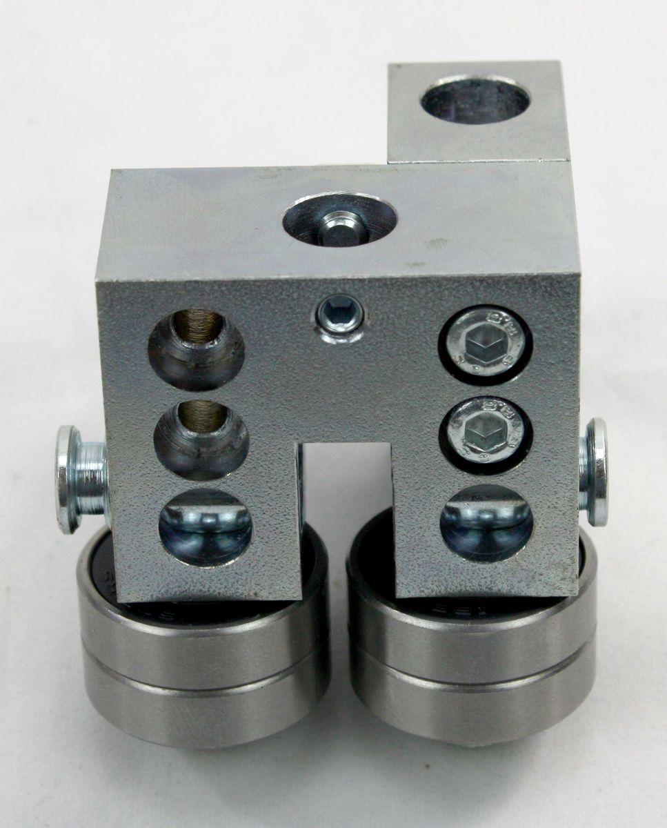 Ersatzteil Set / Baugruppe für Bandsägemaschinen, Universalführung, mittel 5 x 5 x 5 cm, vormontiert, zerlegbar, hochwertig, für viele Modelle passend, universell anbaubar durch 2 Montagemöglichkeiten, benötigt zur Sägebandführung – Bild 9