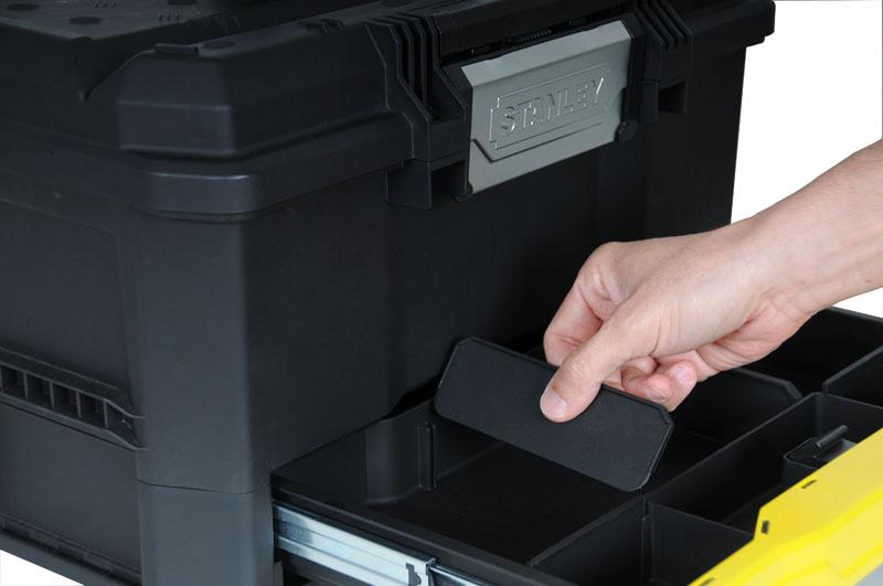 """Stanley Kunststoff Werkzeugbox 19"""" mit integrierter Schublade 1-70-316 – Bild 3"""