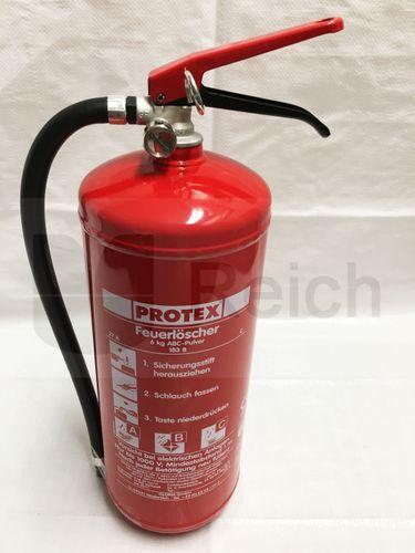 Protex  Feuerlöscher 6 kg ABC Pulver mit Manometer – Bild 6