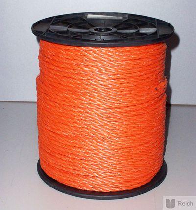 Polyseil gedreht auf PVC-Scheibenspulen 6 mm, 200 Meter lang Neu – Bild 1