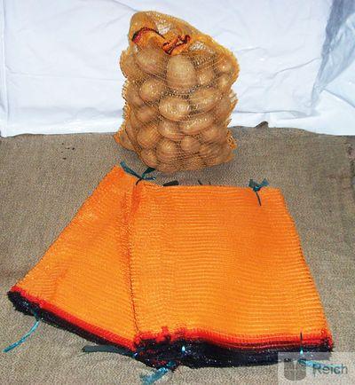 2000 Kartoffel-Raschelsäcke 5 Kg fassend mit Zugband, 30 x 50 cm, Neu!