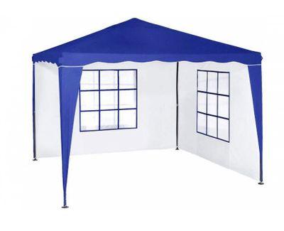 Pavillon Zelt Partyzelt Everyday blau/ weiss 3 x 3 m wasserdicht mit 3 x Seitenwand Neu! – Bild 1