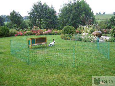 Kaninchennetz 50 mtr. Grün 65 cm, Einzelspitze elektrifizierbar Neu! – Bild 6