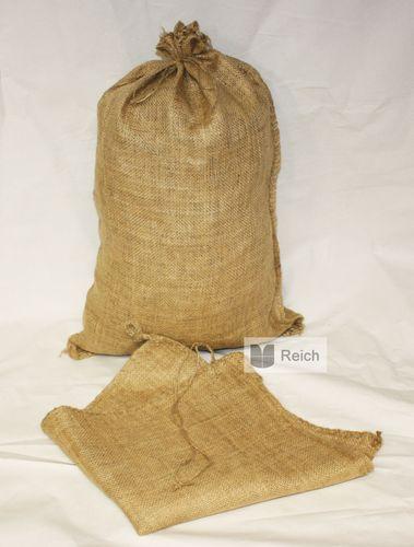 5 Hochwassersandsäcke 40 x 60 cm Sandsäcke Jutesäcke mit Bindeband – Bild 1