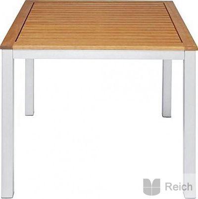 Holz Metall Tisch LYNX äußerst stabil 89 x 89 cm edel Gartentisch Eukalyptusholz Neu!