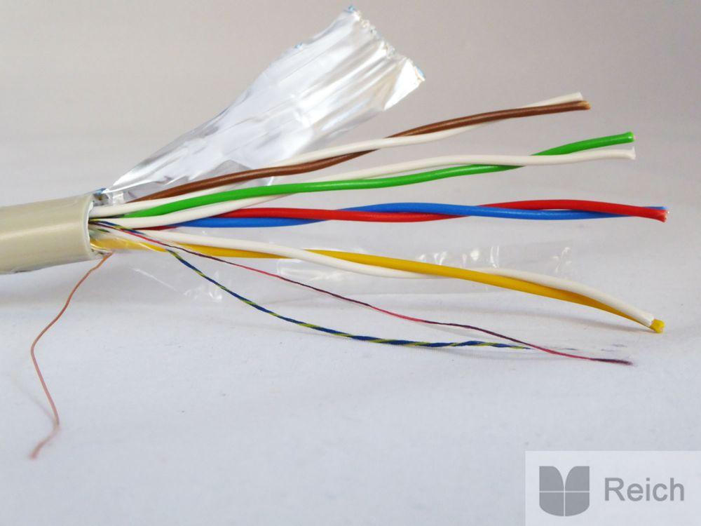 fernmeldeleitung telefonkabel j y st y 4x2x0 8 geschirmt ring 100m heimwerker elektromaterial kabel. Black Bedroom Furniture Sets. Home Design Ideas