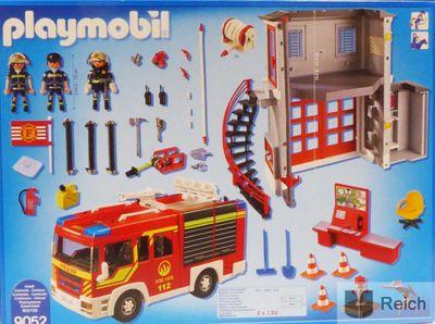 Playmobil 9052 City Action Feuerwehr Mega Set mit Pumpe – Bild 3