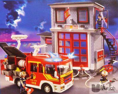 Playmobil 9052 City Action Feuerwehr Mega Set mit Pumpe – Bild 8