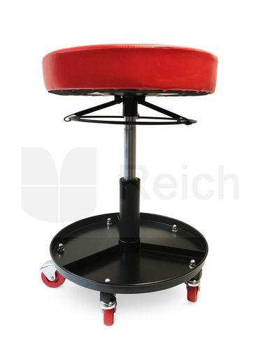 Werkstattsitz Werkstatthocker Montagehocker stufenlos höhenverstellbar mit Rollen – Bild 4
