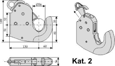 2er Set Unterlenker Fanghaken  CBM Schnellkuppler Kat. 1, Kat. 2S, Kat. 2, Kat. 3, – Bild 4