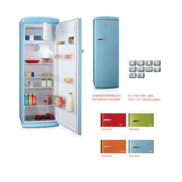 Telefunken Kühl-Gefrierkombi Retro Kühlschrank 288 L