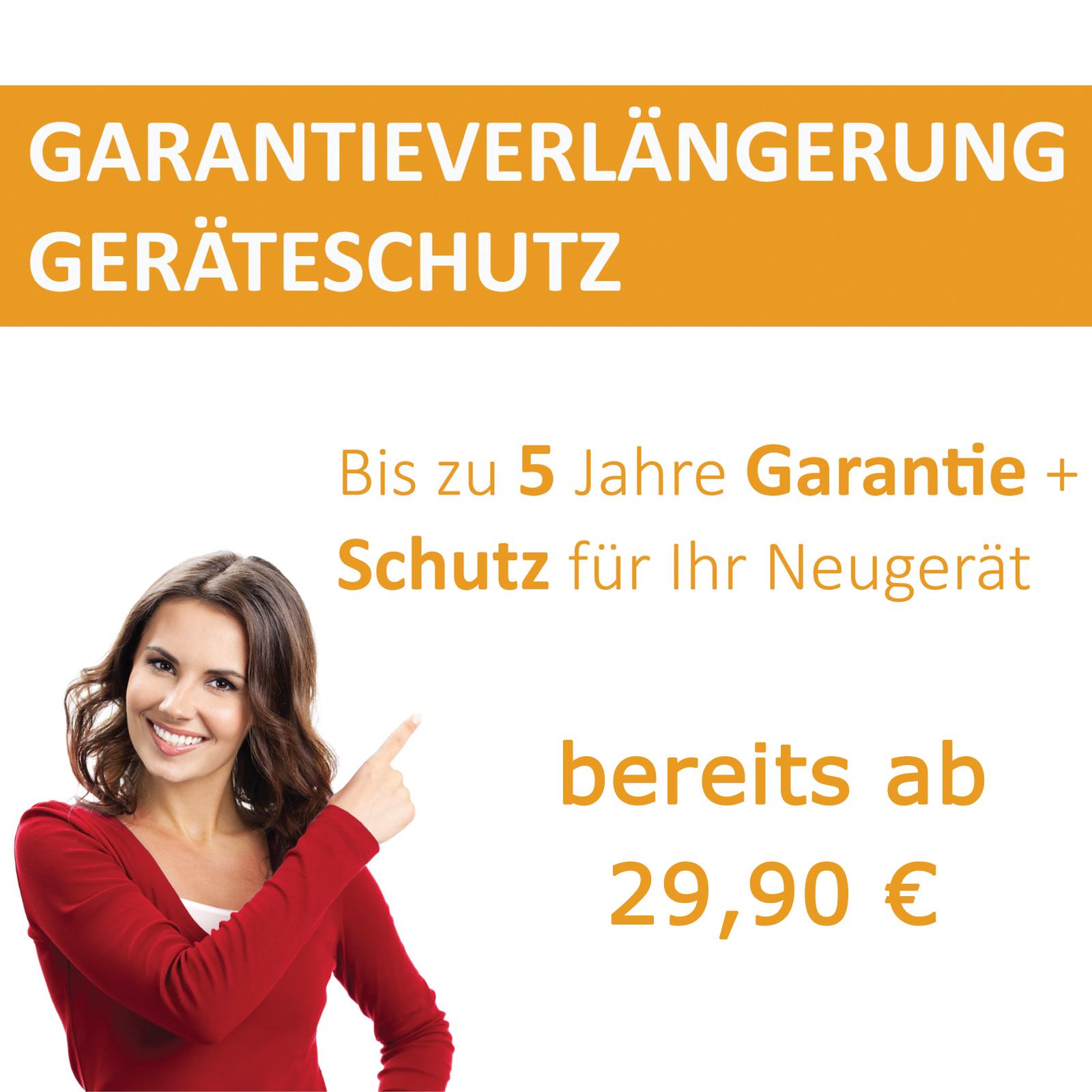 Garantieverlängerung für Geräte bis 2.500,- € inkl. MwSt.