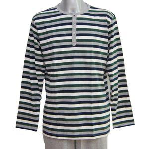 JOCKEY Herren Pyjama Schlafanzug lang Baumwolle Jersey grau – Bild 2