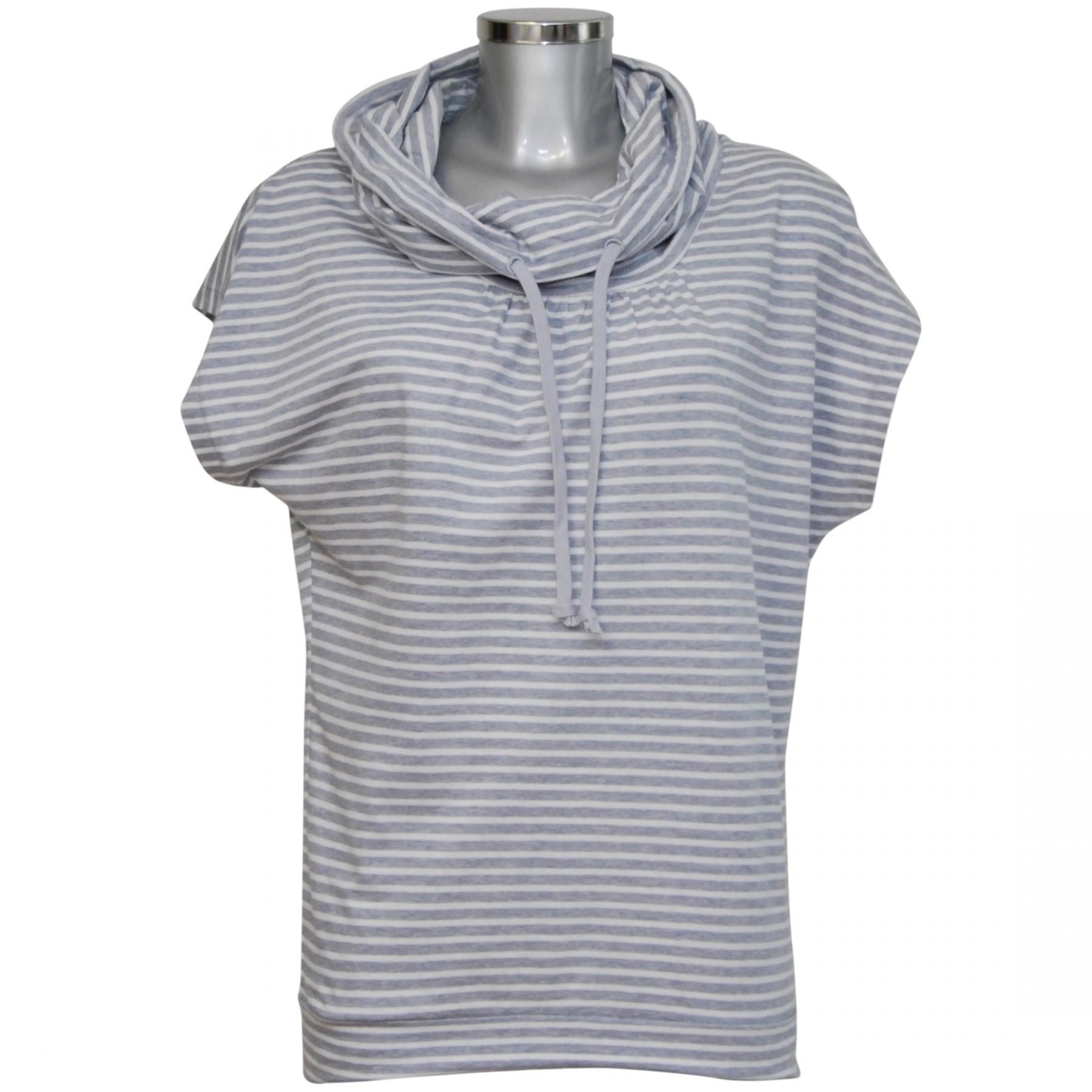 dca03f47a04d5a MelanieM Damen T-Shirt kurzarm Loop-Kragen reine Baumwolle MelanieM