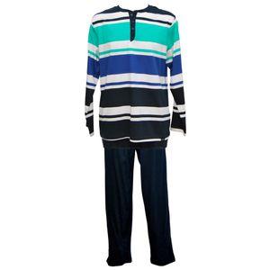 JOCKEY Herren Pyjama lang Schlafanzug Jersey reine Baumwolle Comfort Fit – Bild 1