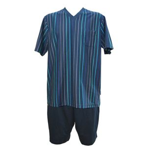 JOCKEY Herren Pyjama kurzer Schlafanzug Jersey bügelfrei International Collection – Bild 1
