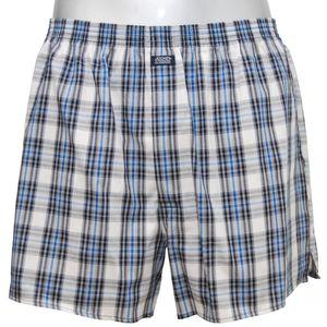 JOCKEY Herren Boxer Shorts gewebte Baumwolle blau kariert U.S.A. Originals