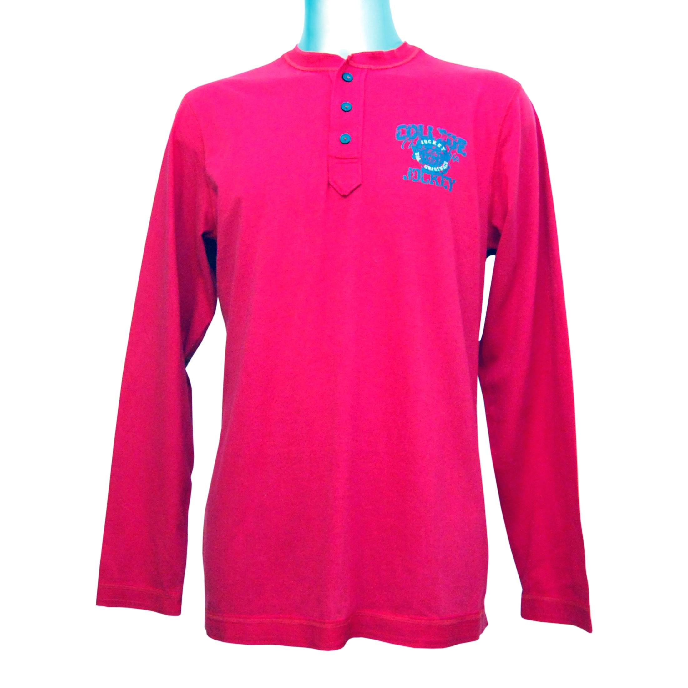 watch dd383 94284 JOCKEY Herren Shirt langarm Rundhals Knopfleiste reine Baumwolle U.S.A  Originals