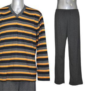 JOCKEY Herren Pyjama Schlafanzug lang Jersey V-Ausschnitt U.S.A.Originals bügelfrei