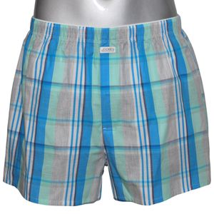 JOCKEY Herren Boxer Shorts Webboxer International Collection Komfortbund blau-kariert – Bild 1
