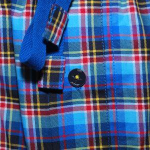 JOCKEY Herren Pyjamahose Relax Pant lang  U.S.A. Originals blaukariert – Bild 2