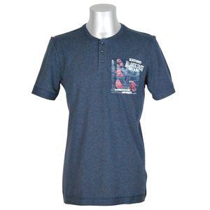 JOCKEY Herren T-Shirt kurzarm Rundhals Knopfleiste Brusttasche reine Baumwolle U.S.A Originals – Bild 1