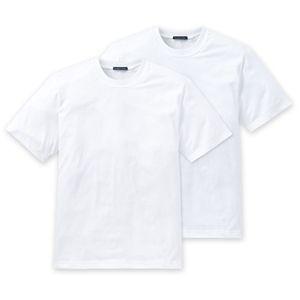 SCHIESSER 2er Pack Herren American T-Shirt kurzarm reine Baumwolle Rundhalsausschnitt weiß – Bild 5