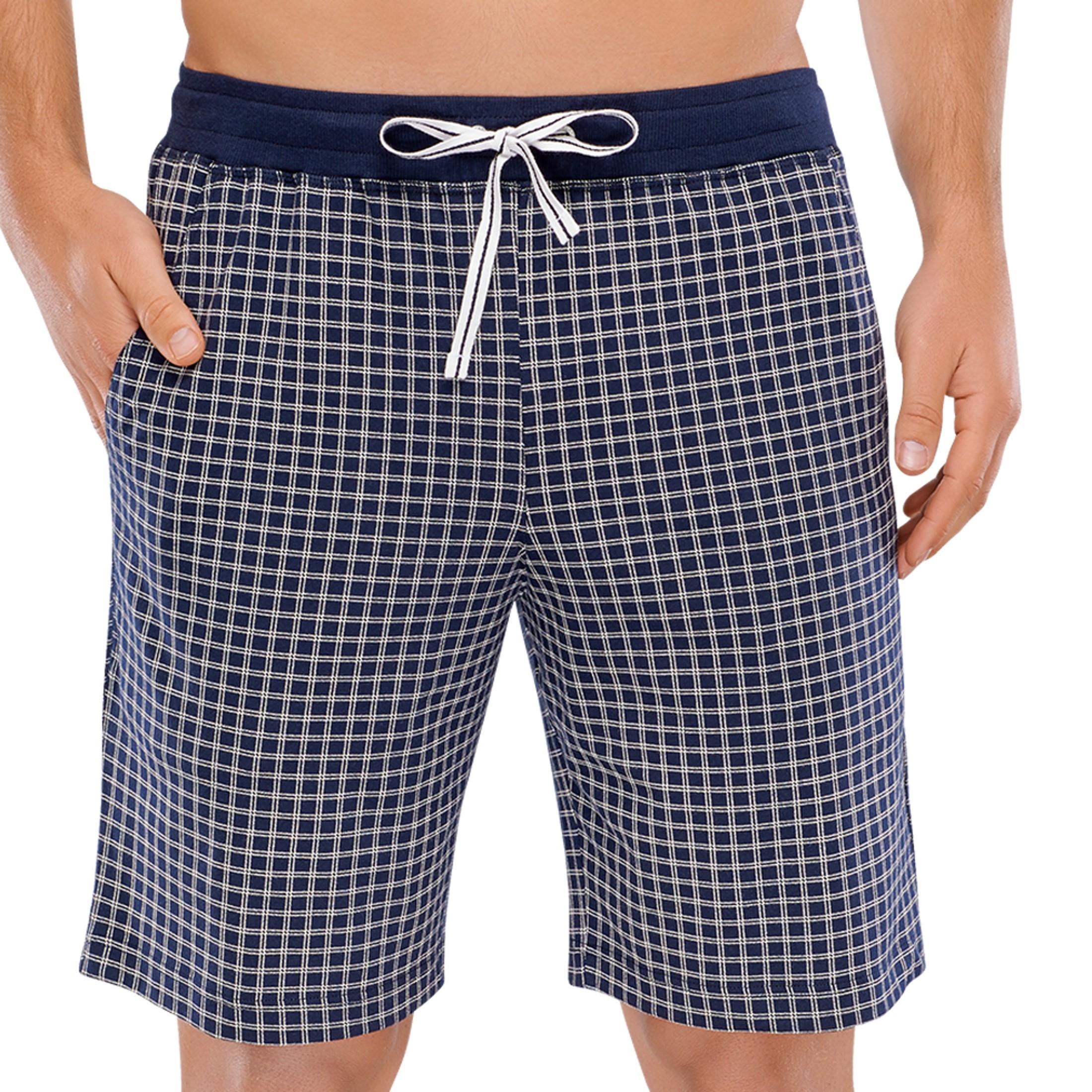 Herren Baumwolle Shorts Reine Taschen Weicher Jersey Bermuda Schiesser Dunkelblau vwn0Nm8