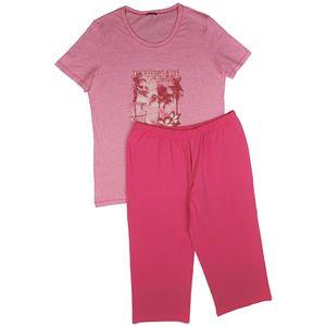 SCHIESSER Schlafanzug 3/4 Hose 1/2 Arm Shirt berry – Bild 1