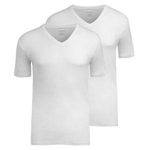 2er Pack JOCKEY Herren V-Neck Shirt Modern Classic Feinripp Baumwolle ohne Seitennähte weiss – Bild 2
