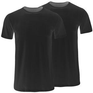 JOCKEY 2 er Pack Herren American T-Shirt reine Baumwolle schwarz – Bild 1