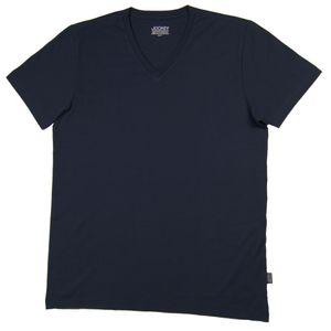 JOCKEY Herren American V-Neck Shirt V-Ausschnitt reine Baumwolle navy – Bild 3