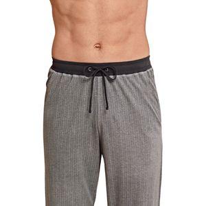SCHIESSER Herren Hose lang Loungehose Jersey dunkelgrau bedruckt – Bild 3