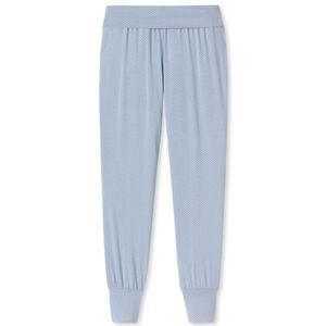 SCHIESSER Damen Hose Yogahose lang Bündchen hellblau – Bild 4