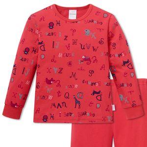 SCHIESSER Mädchen Schlafanzug lang Single-Jersey Bündchen Lotte lernt Lesen rot – Bild 2