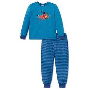 SCHIESSER Jungen Schlafanzug lang Jersey Capt´n Sharky fliegender Teppich blau – Bild 1